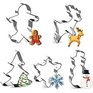 joyoldelf Cortadores de Galletas de Navidad Moldes de Galletas