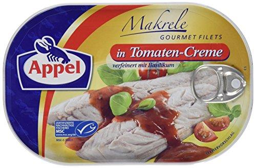 Appel Makrelenfilets in Tomaten-Creme, 1er Pack Konserven, Fisch in Tomatencreme