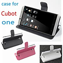Prevoa ® 丨Flip PU Funda Cover Case para Cubot ONE 4.7 pulgada Android Smartphone - Negro