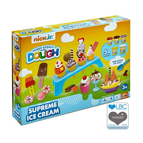 Nick Jr - Ready Steady Dough - Supreme Ice Cream - Salon de Glace - Set de 5 boîtes de pétrissage Enfant erknete et Accessories