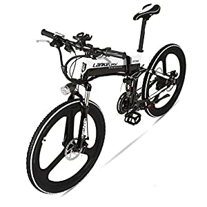 """51b9apd wOL. SS300  - GTYW Electric Folding Bicycle Mountain Bicycle Blue Kress Electric Bicycle 26"""" Inch Shimano 27 Speed Oil Dish Panasonic Lithium Five Gear Booster Electric Vehicle"""