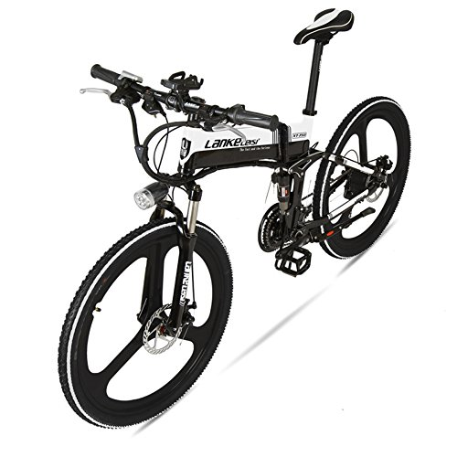 "51b9apd wOL. SS500  - GTYW Electric Folding Bicycle Mountain Bicycle Blue Kress Electric Bicycle 26"" Inch Shimano 27 Speed Oil Dish Panasonic Lithium Five Gear Booster Electric Vehicle"
