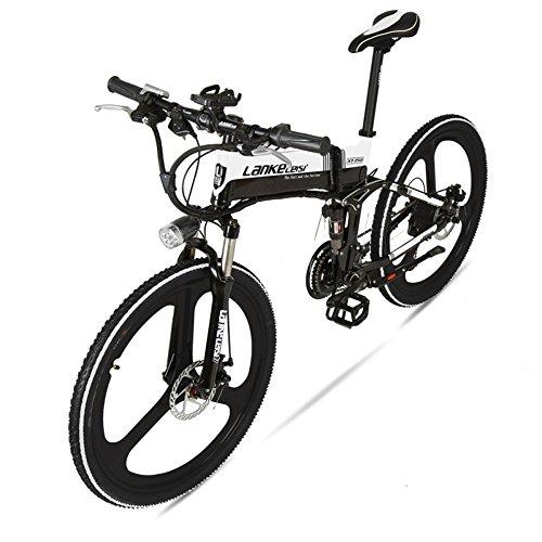 JPFCAK, Bicicleta Eléctrica, Plegable, Montaña, Scooter, Bicicleta, 26 Pulgadas, Shimano 9 Velocidades,...