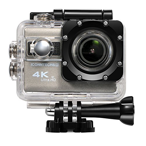 ICONNTECHS IT 4K Ultra HD Wasserfeste Sport-Actionkamera, Unterwasserkamera 170° Weitwinkellinse, Full HD 1080P Sony Sensor WiFi HDMI camcorder, Gratis Zubehör für Helm, Tauchen, Radfahren und Extremsport
