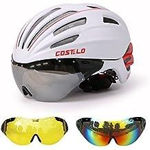 Casco de bicicleta MTB bicicleta de carretera casco gafas lente velocidad airospeed (tamaño; 57–62cm)