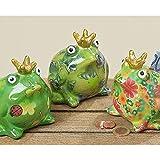 Spardose Froschkönig 3sort H10 Material: Terrakotta
