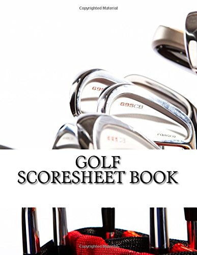 Golf Scoresheet Book: 200 Pages (100 sheets)