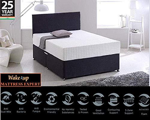 Wake-Up Ortho Memory Foam Double Mattress (72x42x8 IncH, White)
