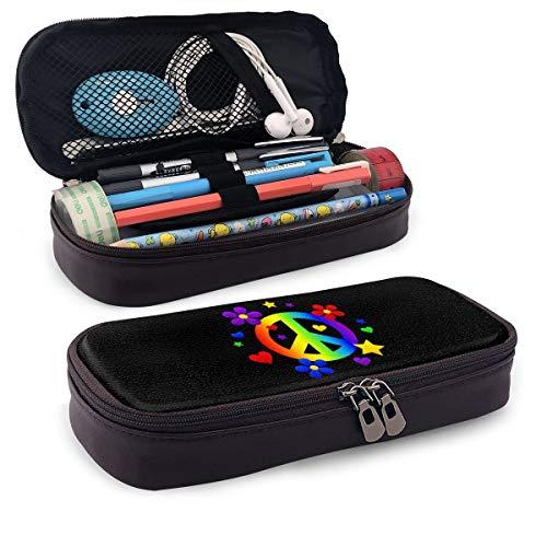 Iop 90p Peace-Zeichen Aufbewahrungstasche Geldbörse Organizer Kosmetiktasche Reisetaschen, PU, Schwarz, Einheitsgröße - Peace-zeichen-geldbörse