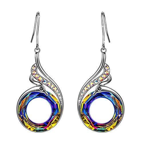 NIMUIL Ohrringe Ohrhänger für Damen Schmuck mit Kristall von Swarovski Jahrestag, Glück und Erneuerung symbolisieren -