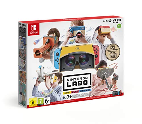 Nintendo Labo VR Kit Establecer - Accesorios y piezas de videoconsolas (Establecer, Nintendo Switch, Multicolor, Caja de cartón, Estampado de dibujos, Nintendo)