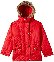 Qube By Fort Collins Girls Jacket (51356 fa_Red_30(10 - 11 years))
