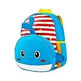 7b2cf21a4 QUICKLYLY Mochilas Infantiles para Niños con Animal Bolsa Térmica Comida  Bebe de Escuela (Azul)