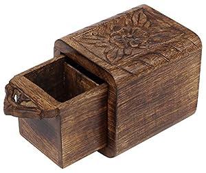 Vente sur boîte à thé en bois Cyber Lundi Deals 2016–Mangue Boîte à thé en bois sculpté