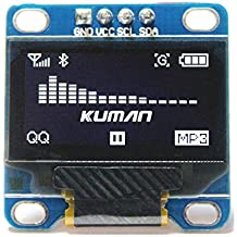 Kuman 0.96 Pulgada Blanco IIC Módulo OLED I2c IIC Serial 128x64 LCD Pantalla para Arduino Raspberry pi KY34-W