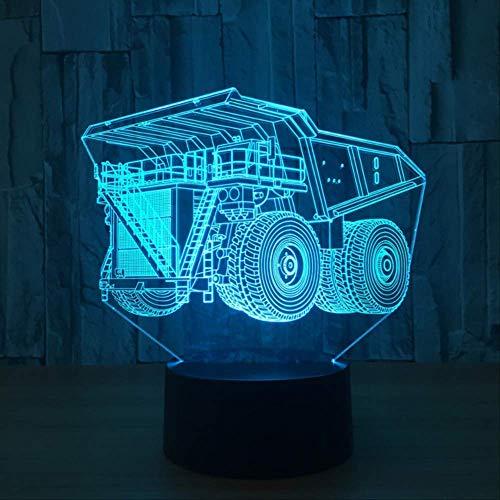 3D Nachtlicht New Container Truck 3D Led Licht Lampe 7 Farbwechsel Touch Remote Usb Tisch Lampara Lampe Feuerwehrauto Lkw Engineering Fahrzeug Remote Und Touch 7 Farben Veränderbar