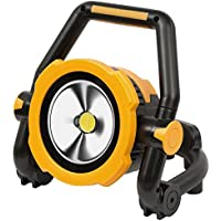 Brennenstuhl Mobile Akku LED-Leuchte / LED Strahler mit Akku (Außenleuchte 20 Watt, Baustrahler IP54, Fluter Tageslicht) schwarz/gelb