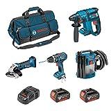 BOSCH Kit PSL4M2CBEC (GBH 18V-EC + GSB 18V-21 + GWS 18-125 V-LI + GAS 18V-10L + 2 x 4,0Ah + GAL1880CV + HDBAG)