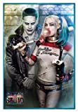 Close Up Suicide Squad Poster Joker & Harley Quinn (94x63,5 cm) gerahmt in: Rahmen türkis