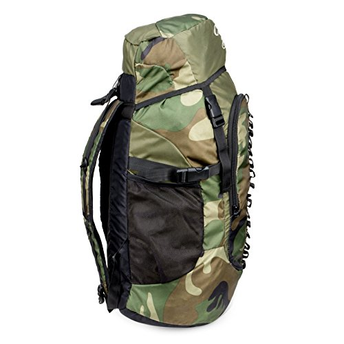 Chris & Kate Large Army Green Camouflage Bag || Travel Backpack || Outdoor Sport Camp Hiking Trekking Bag || Camping Rucksack Daypack Bag (45 litres)(CKB_186LL) Image 5