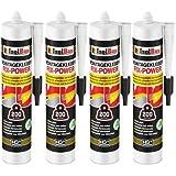 Montagelijm FIX-POWER Baukleber 4x 480 g cartridge wit kwaliteit 200kg / 10cm