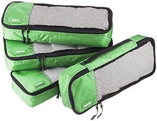 AmazonBasics Lot de 4sacoches de rangement pour bagage TailleSlim, Vert (B014VBINRA) | Amazon Products