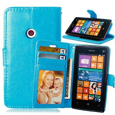 HL CASES And COVERS Schöne Fälle, Abdeckungen, Luxus-PU-Leder Karteninhaber Geldbörse Stehen Klappdeckel mit Fotorahmen Fall für Nokia Lumia 520 (Farbe : Blau, Kompatible Modellen : Lumia 830) - Geldbörse Nokia 830 Lumia Fall