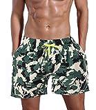 ORANSSI Men's Solid 16-inch Waterproof Swim Trunks (XL(Waistline=42-44inch), Camouflage)