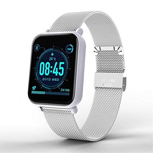 R6 Smart Watch Bluetooth 4.0 Schrittzähler Gesundheit Relogios Sport Smart Watch Anruferinnerung Herzfrequenz-blutdruckmessgerät Uhr,Whitesteel