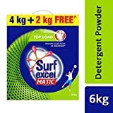 Surf Excel Matic Top Load Detergent Powder - 4 kg with Free 2 kg