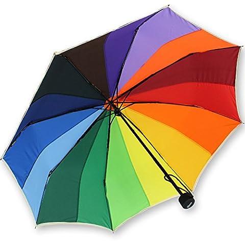 iX-brella Mini Taschenschirm rainbow pocket 16-color - Regenbogen mit 97cm Durchmesser