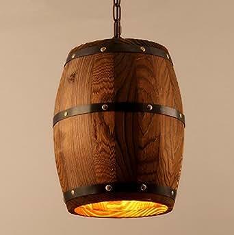 LKMNJ Kreative Sepia Industrial Air der Kronleuchter Möbel Beleuchtung Holzfass Light Bar (240 * 330 Mm)