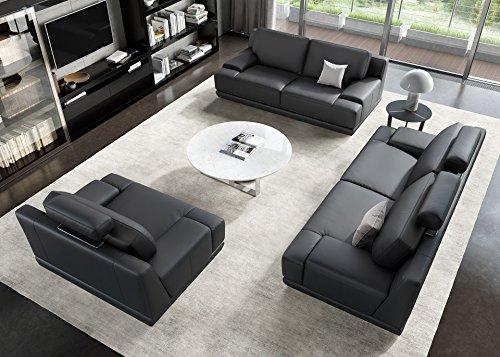 Designer Sofa Ledergarnitur Ledercouch Couchgarnitur Sofagarnitur 2Sitzer Sitzgruppe - 4