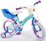 L&E Eiskönigin Fahrrad 14 Zoll Kinderfahrrad Dreirad Disney Frozen Anna Elsa 51461CH