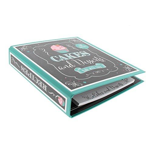 Goldbuch libro di ricette Bon Appetit, 21x 22,5cm, 25fogli, illustrate, Nero/Marrone, Cakes & Desserts, 21x22,5