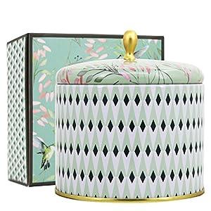 La Jolíe Muse Duftkerze Groß Sojawachs Kerze Weißer Tee Geschenkkerze in Dose 2 Dochte 80Std 400g