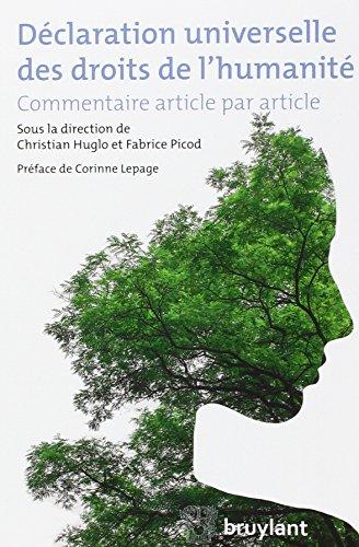 Déclaration universelle des droits de l'humanité : Commentaire article par article par Collectif