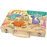 malkoffer 'Paint caja 66' con 11utensilios-Malset de 66piezas para escuela y Co.: pinturas el compacto en práctico estuche de madera. Motiv 03