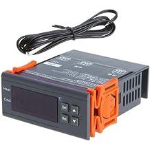 10A 220V Pantalla LCD digital de temperatura Temperatura Controlador Controlador Termostato para el acuario, terrario, viveros, incubadoras y paludarios desde -40 ℃ a 120 ℃ con función de alarma