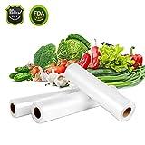 EIVOTOR Sottovuoto Sacchetti Alimenti 15cm/20cm/25cm x 500 cm/3 Rotoli per Dispositivo di Sottovuoto Conservazione Alimenti/Taglio Libero
