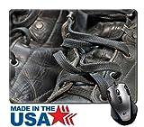 MSD Mouse Pad/Tapis en caoutchouc naturel avec bords cousus 9,8x 7,9travailler Lacets de chaussures d'image 33063870
