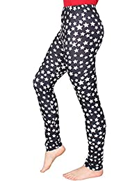 ee1a83970706e2 FTSD - FindTheSecretDreams ✅ Leggings Damen Mädchen mit Printdruck (Stern),  Angenehm Weich