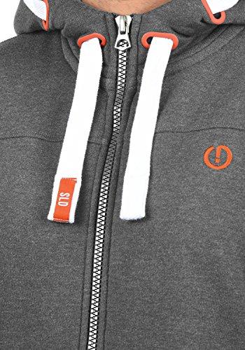 SOLID BenjaminZip Herren Sweatjacke Kapuzen-Jacke Zip-Hoodie mit Kapuze und optionalem Teddy-Futter aus hochwertiger Baumwollmischung Grey Melange (8236)