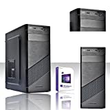 PC Desktop komplett Intel i3–81003,6GHz 8° gen/Software Windows 10Professional 64Bit/-Grafik Intel HD 6301GB 4K/WiFi 150Mbps/HD 1TB SATA III + SSD 240GB/RAM 8GB DDR42133MHz/Brenner dvd-cd LG/Netzteil 500Watt/S. z370m Pro4Motherboard mit 4Slot DDR4/Eingänge HDMI, DVI, VGA, USB2.0, ubsb3.0, USB3.1, Audio, Video, LAN/, unterstützt 3Monitor, Eingang Ultra m.2/Editing, Büro, Grafik, 4K, professionell, Gaming