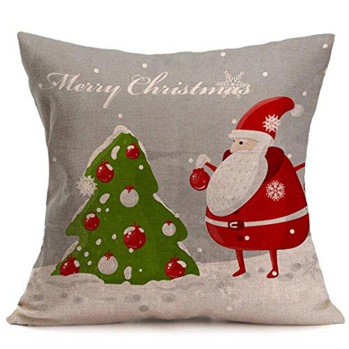 AMUSTER Weihnachten Leinen werfen Pillow Case Kissen Cover Home Decor ( Kissen ist nicht inbegriffen ) (G)