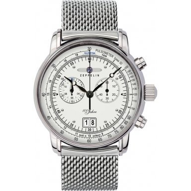 Zeppelin Watches - Reloj analógico de cuarzo para hombre con correa de acero inoxidable