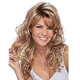 Yhdcc44 Perruque pour femme Cheveux synthétiques bouclés ondulés Style cosplay...
