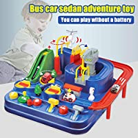 Ohwens RC Rail Car Toy Car Adventure Game Manipulative Rescues Squad Adventure Rail Car Model Racing Educational Toys