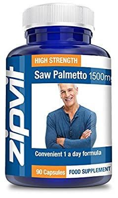 Saw Palmetto 1500mg, Pack of 90 Tablets, by Zipvit Vitamins Minerals & Supplements from Zipvit