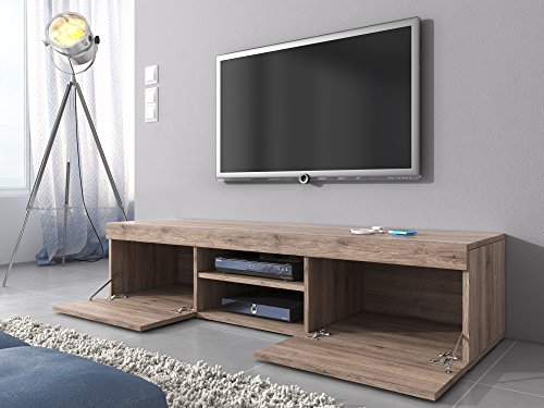 Tv unit cabinet stand mambo light oak sonoma 160 cm for Coprifili tv
